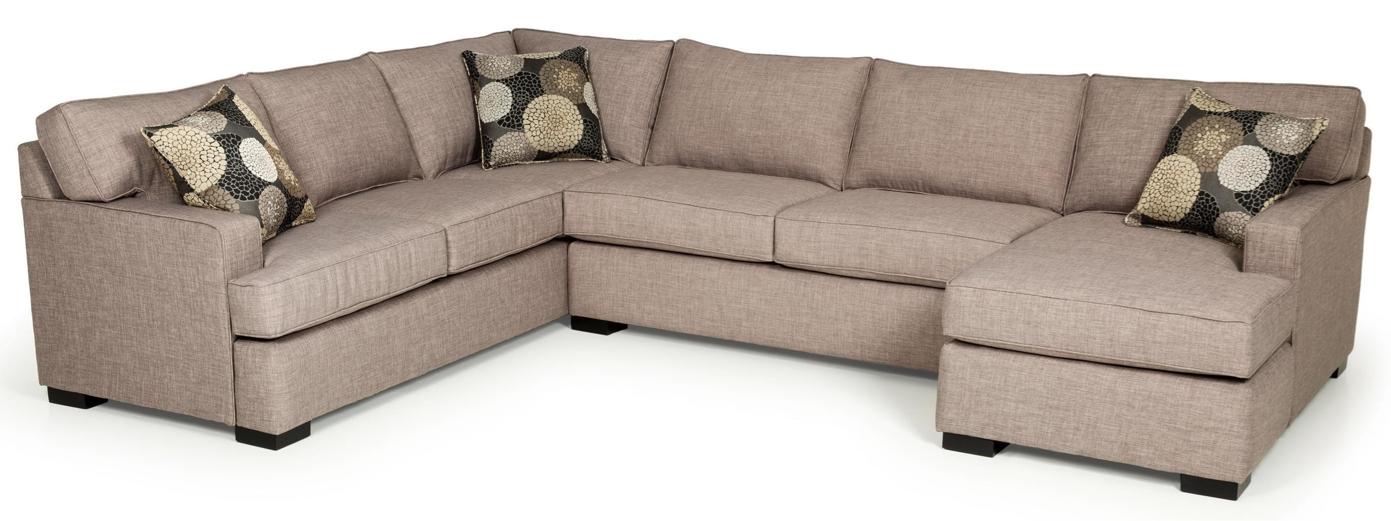 Sofa Modern 146 Contemporary Three Piece Sectional Sofa With Chaise By Stanton At Gallery Furniture