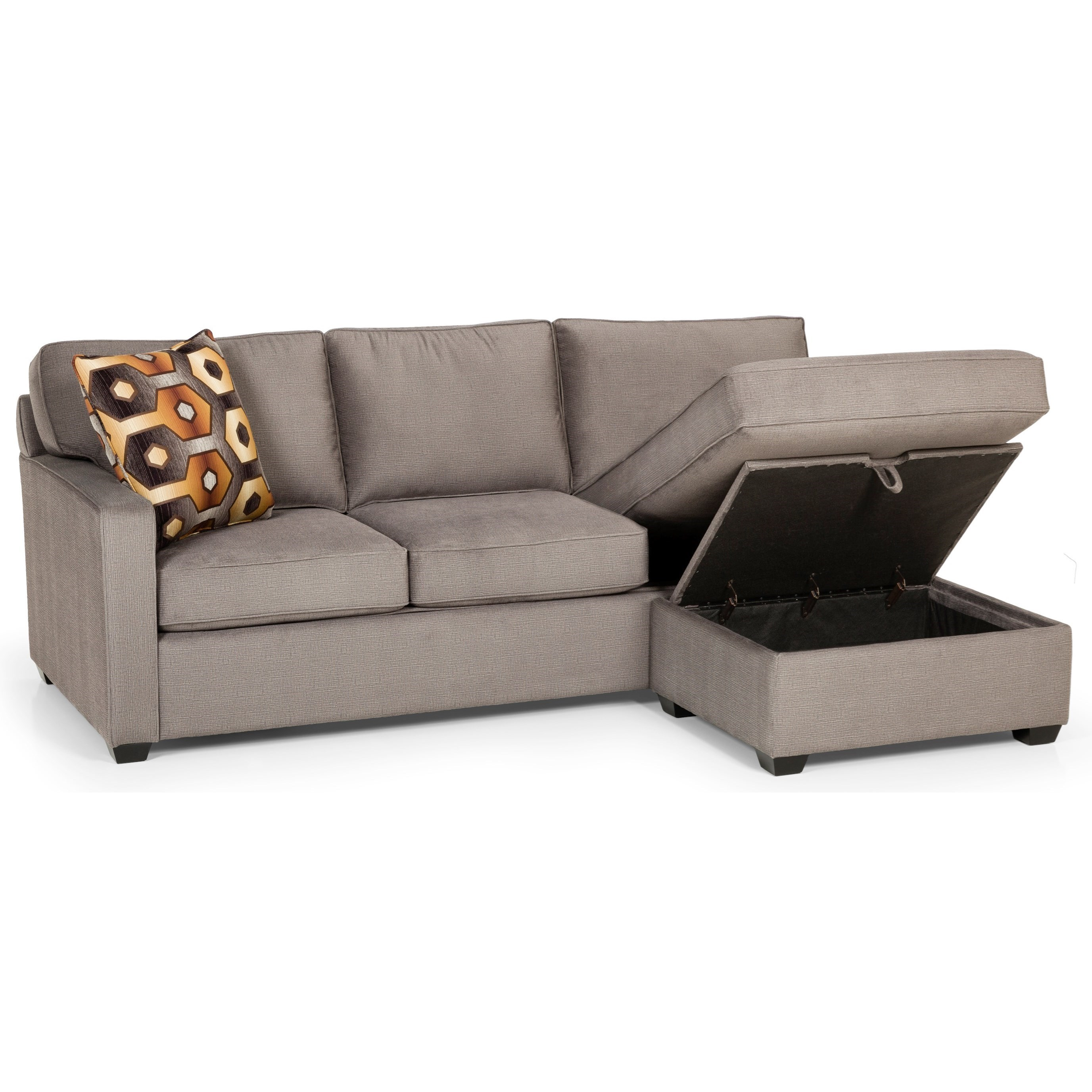 Queen Sofa Bed Ottoman Stanton 403 Casual Sofa Chaise Queen Gel Sleeper With Storage