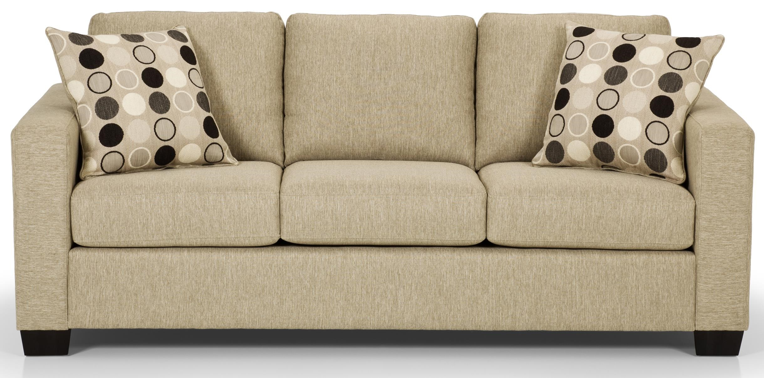Square Sofa 702 Contemorary Sofa With 2 Accent Pillows By Sunset Home At Walker S Furniture