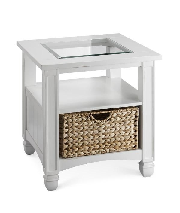 Coffee And End Tables With Storage Stein World Casual Nantucket Glass Top End Table With Storage