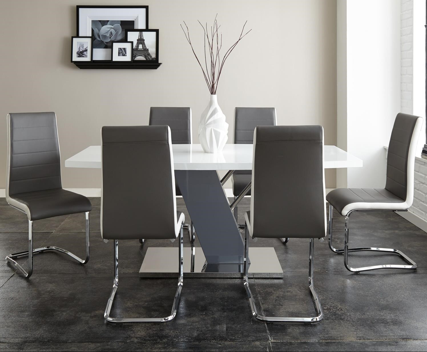 Modern Dining Set Nevada 7 Piece Dining Set With Ergonomic Breuer Chairs By Steve Silver At Olinde S Furniture