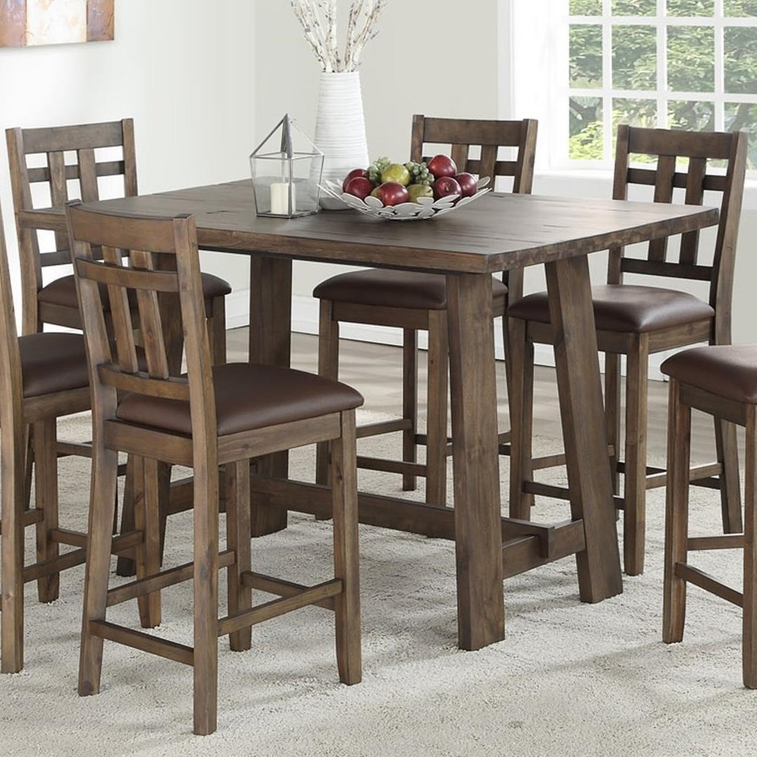 Steve Silver Saranac Rustic 5 Piece Dining Set Wayside Furniture Pub Table And Stool Sets