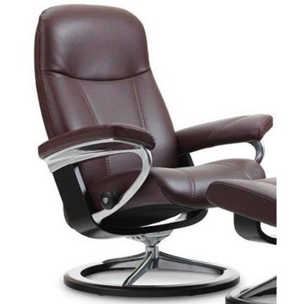 Stresless Consul Small Reclining Chair With Signature Base By Stressless At Novello Home Furnishings