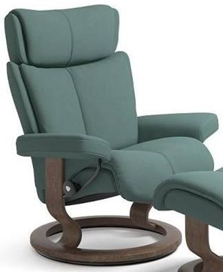 Stressless Magic M Stressless Magic 1144010 Medium Reclining Chair With Classic Base