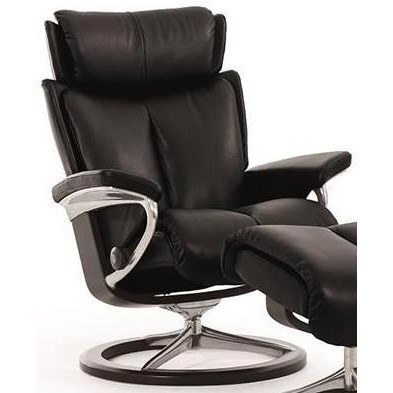 Stressless Magic M Magic Medium Reclining Chair With Signature Base By Stressless At Novello Home Furnishings