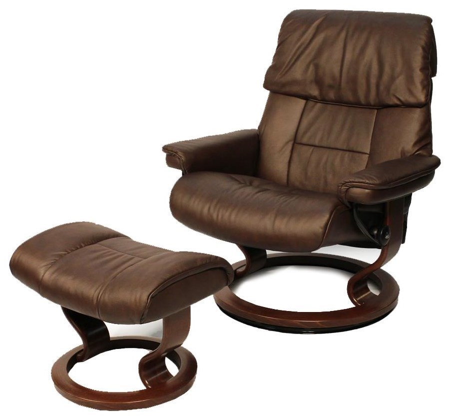 Stressless Outlet Stressless By Ekornes Ruby Large Chair Chocolate Ottoman