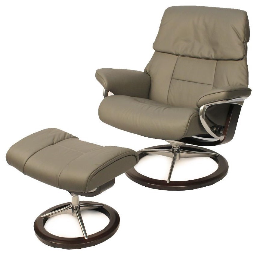 Stressless Outlet Stressless By Ekornes Ruby Large Chair Metal Grey Ottoman