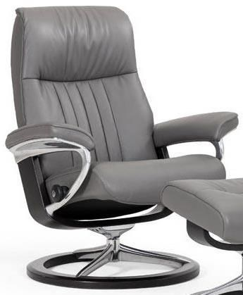 Stressless-world.com Stressless Crown Large Reclining Chair With Signature Base
