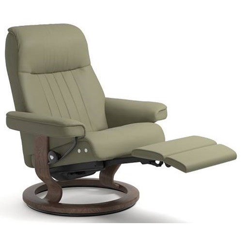 Sressless Crown Large Legcomfort Chair With Classic Base By Stressless At Dunk Bright Furniture