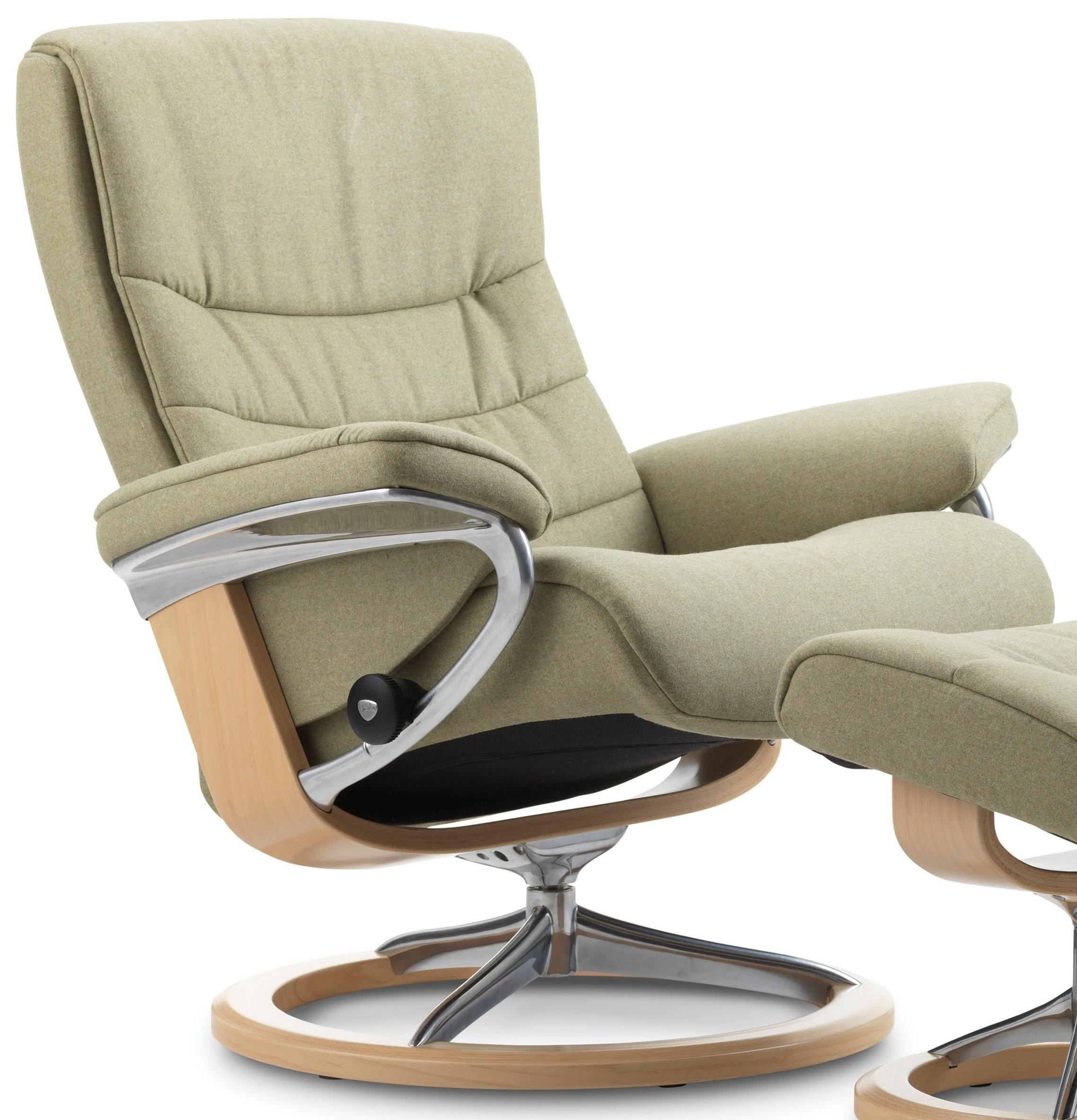 Stressless Nordic Legcomfort Stressless Nordic Medium Reclining Chair With Signature Base