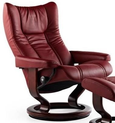 Stressless Outlet Stressless Wing 1060010 Large Reclining Chair With Classic