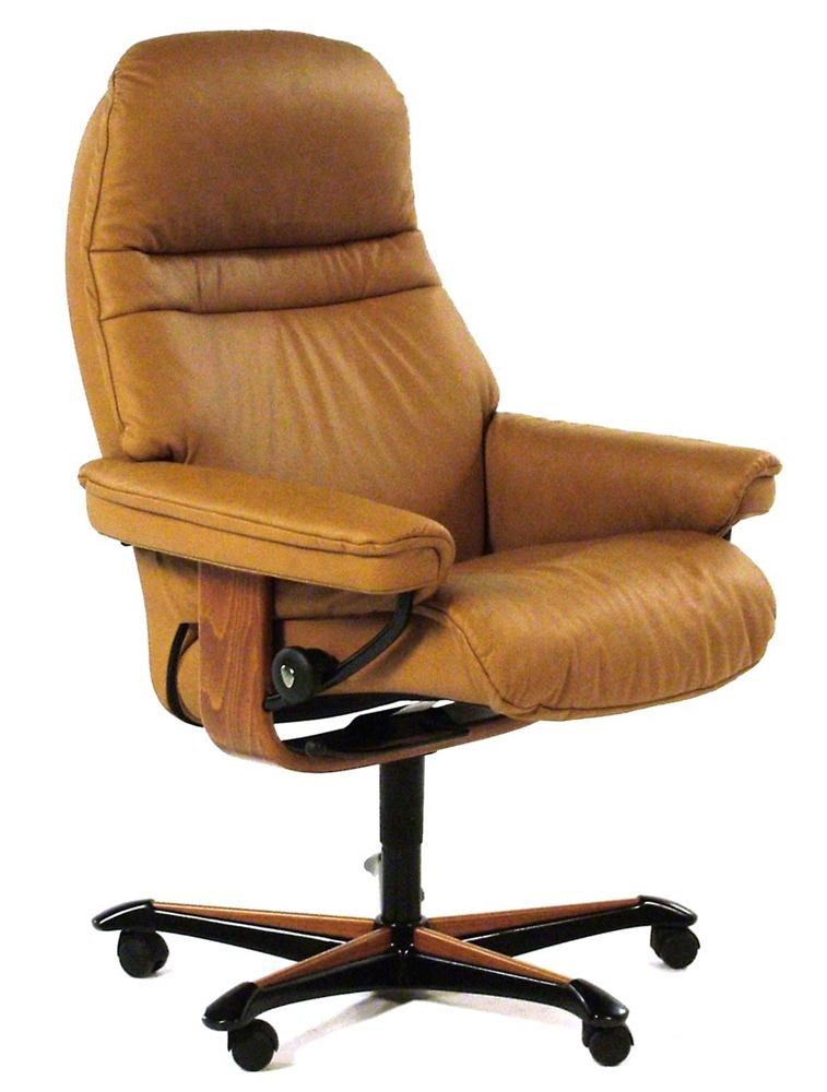 Ekornes Stressless Stressless Office Sunrise Medium Office Chair Paloma Taupe W Teak By Stressless By Ekornes At Rotmans
