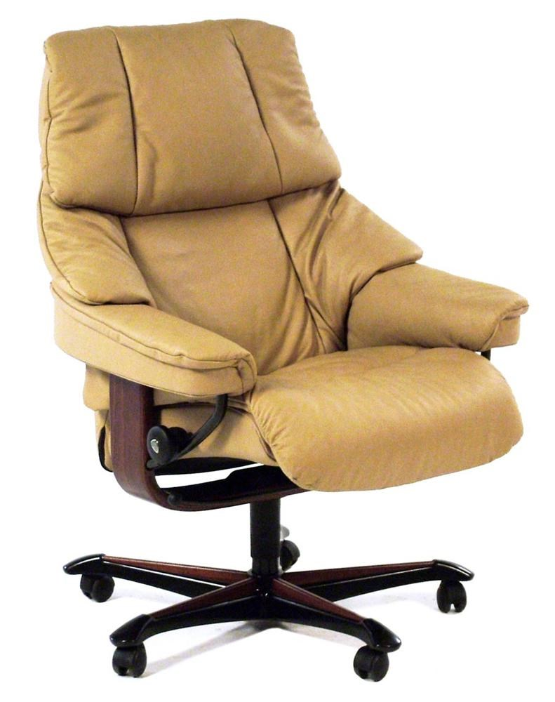 Ekornes Stressless Stressless Office Reno Office Chair Paloma Sand W Teak By Stressless By Ekornes At Rotmans