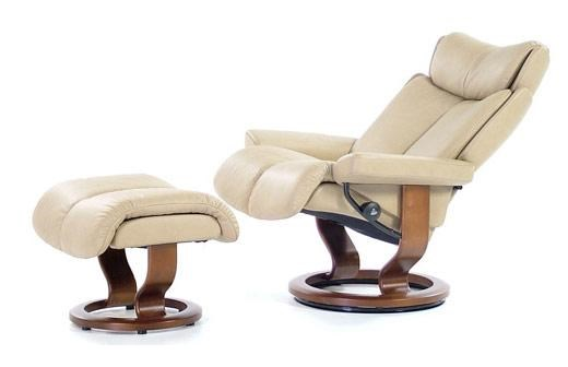 Stresless Magic Magic Medium Recliner Ottoman Paloma Sand Walnut By Stressless At Rotmans