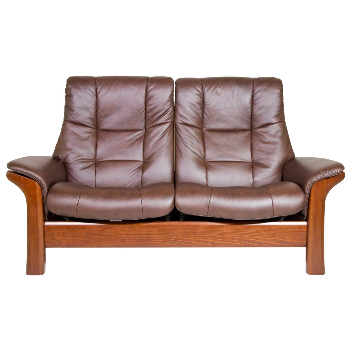 Stresless Buckingham High Back 2 Seater Reclining Loveseat By Stressless At Dunk Bright Furniture