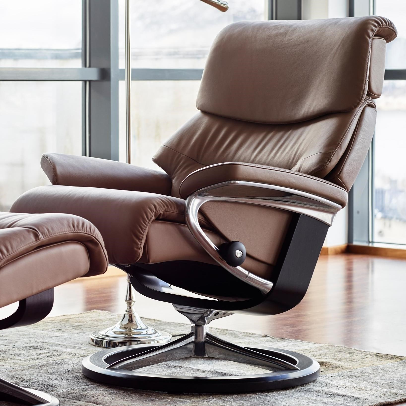 Stresless Capri Large Reclining Chair With Signature Base By Stressless At Dunk Bright Furniture