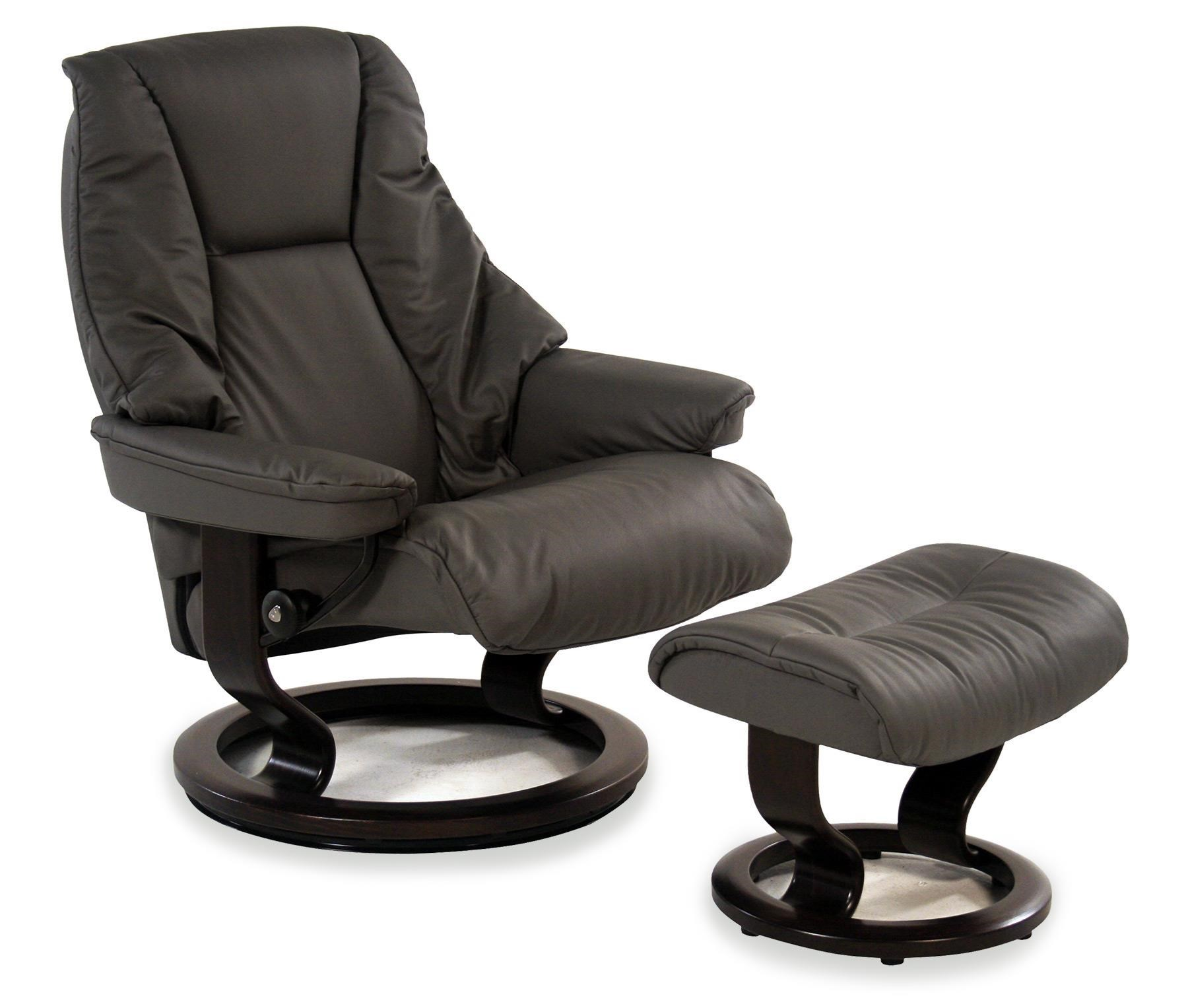 Stresless Live Large Reclining Chair Ottoman Paloma Metal Grey W Classic Base By Stressless By Ekornes At Rotmans