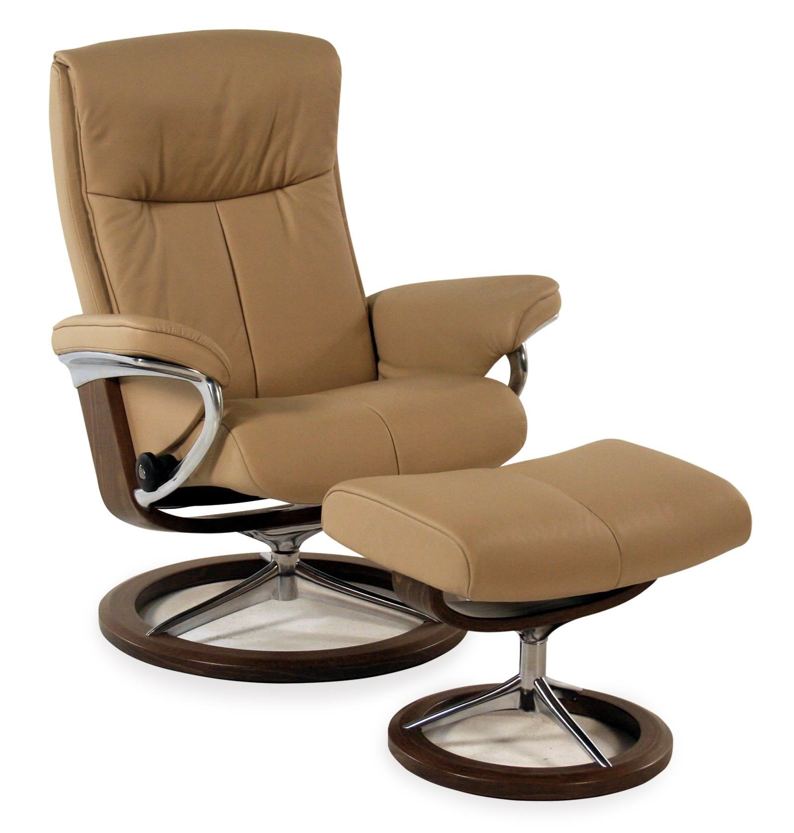 Stressless Paloma Peace Medium Signature Reclining Chair Ottoman Paloma Beige By Stressless By Ekornes At Rotmans
