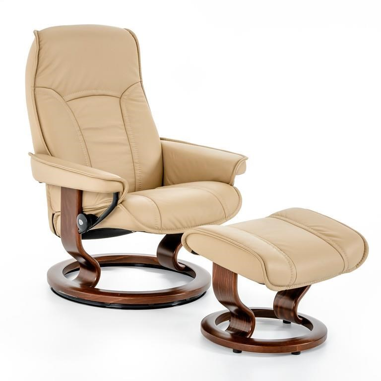 Ekornes Stressless Stressless Senator Medium Classic Reclining Chair And Ottoman By Stressless By Ekornes At Baer S Furniture