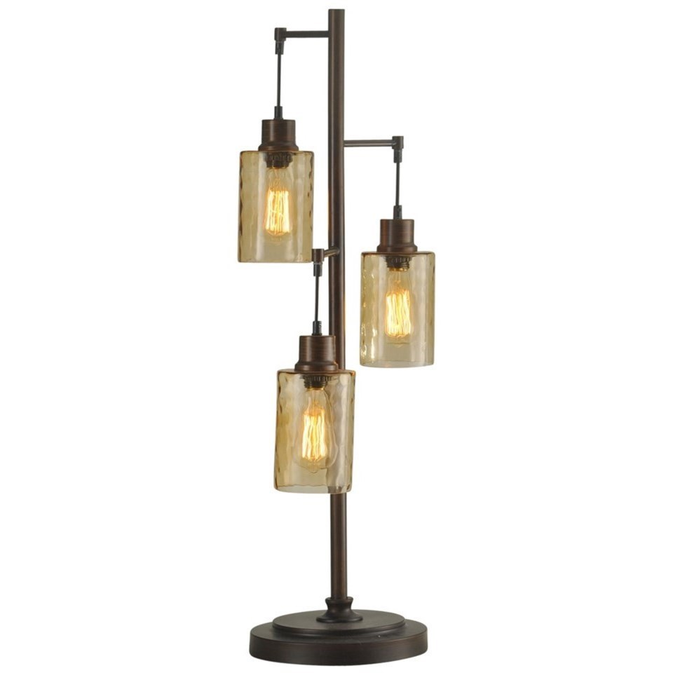 Glass Edison Lamp Lamps Table Lamp With Glass Shades And Edison Bulbs By Stylecraft At Del Sol Furniture