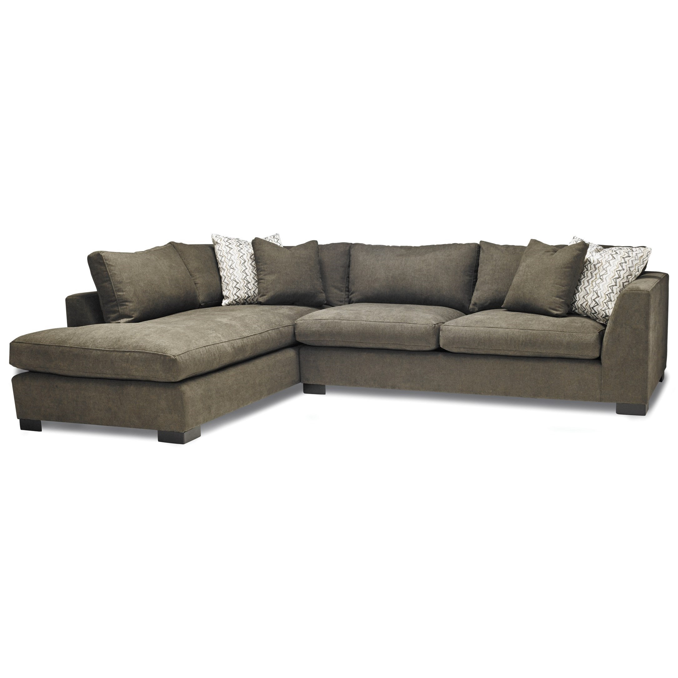 Chaise Pc 2099 Casual Two Piece Sectional Sofa With Laf Chaise By Stylus At Stoney Creek Furniture