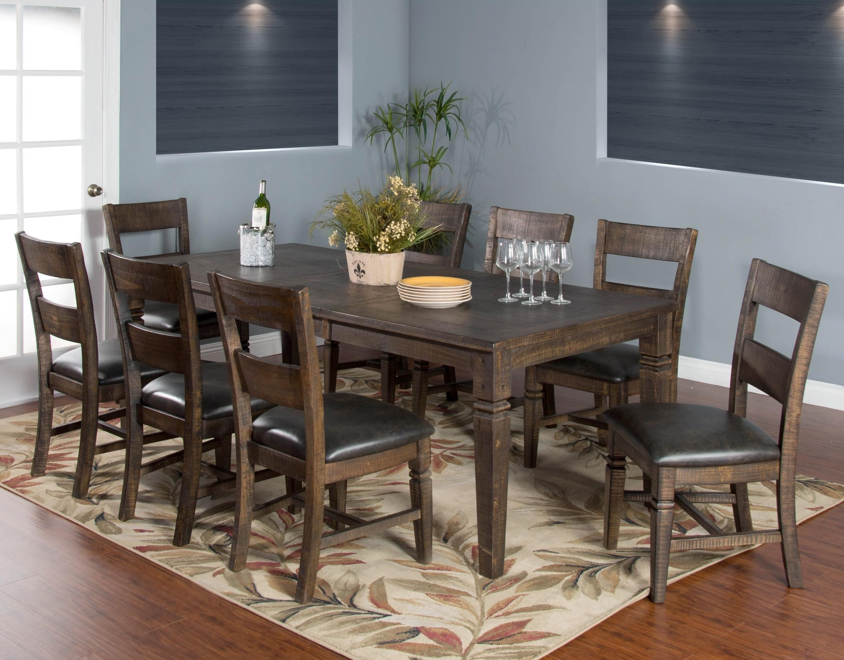 Dining Table Designs Homestead 9 Piece Extension Dining Table Set By Sunny Designs At Conlin S Furniture