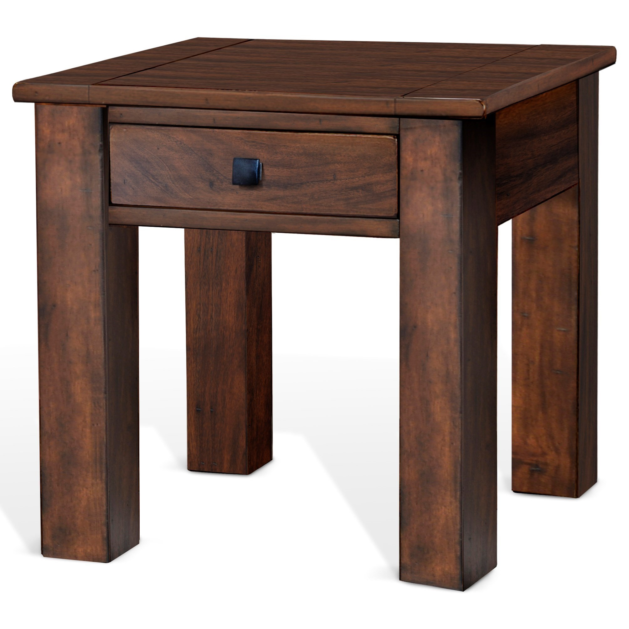 Coffee And End Tables With Storage Sunny Designs Nativ Living Rustic End Table With Storage Drawer