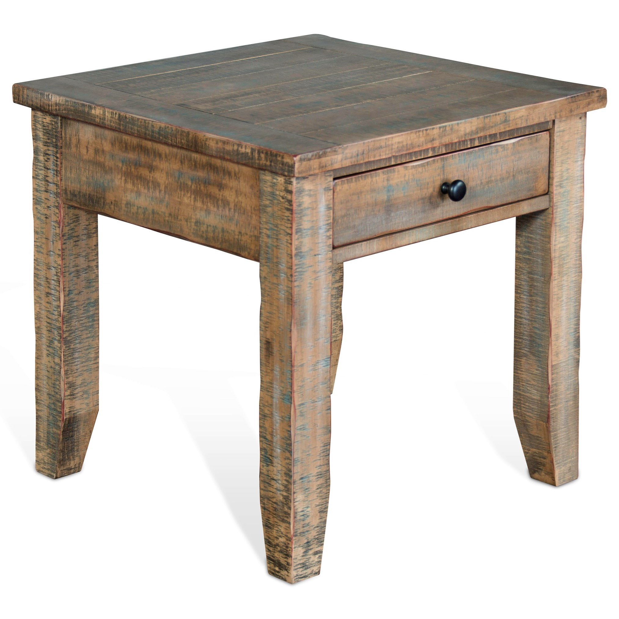 Coffee And End Tables With Storage Puebla Rustic End Table By Sunny Designs At Fashion Furniture