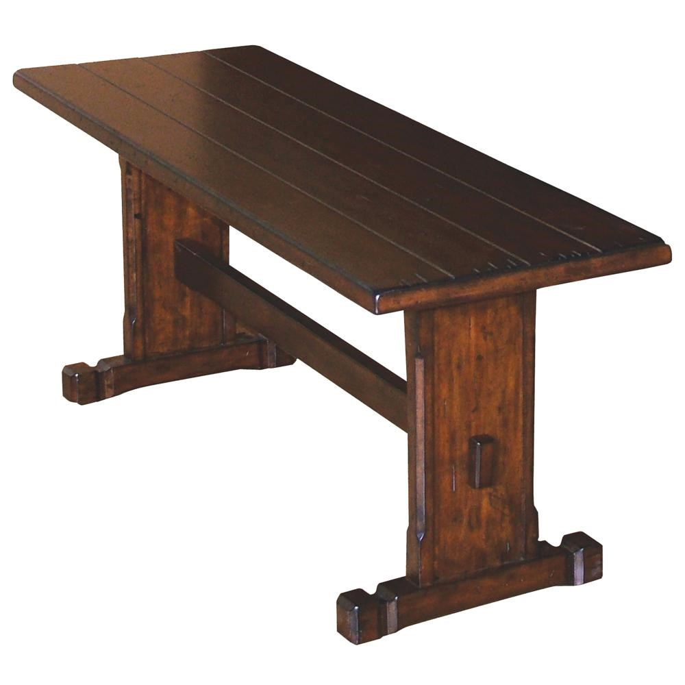 Wooden Bench Table Santa Fe Traditional Long Wooden Plank Top Bench By Sunny Designs At Conlin S Furniture