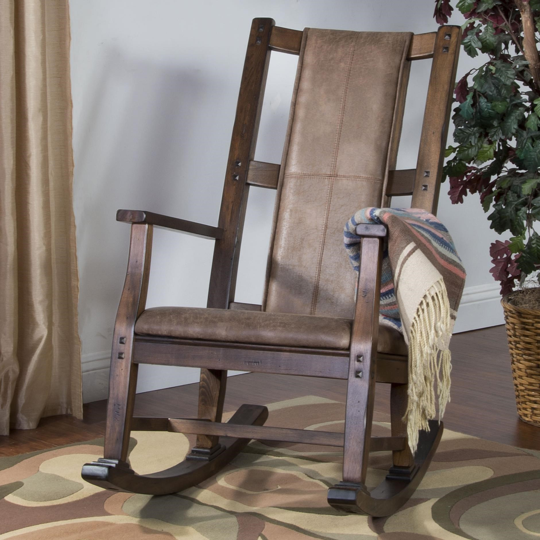 Wood Rocking Chair Savannah Wood Rocker W Cushion Seat Back By Sunny Designs At Walker S Furniture