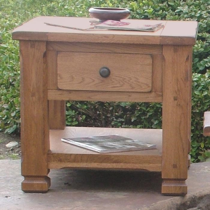 Rustic Wood End Table Sedona Rustic Oak End Table By Sunny Designs At Conlin S Furniture