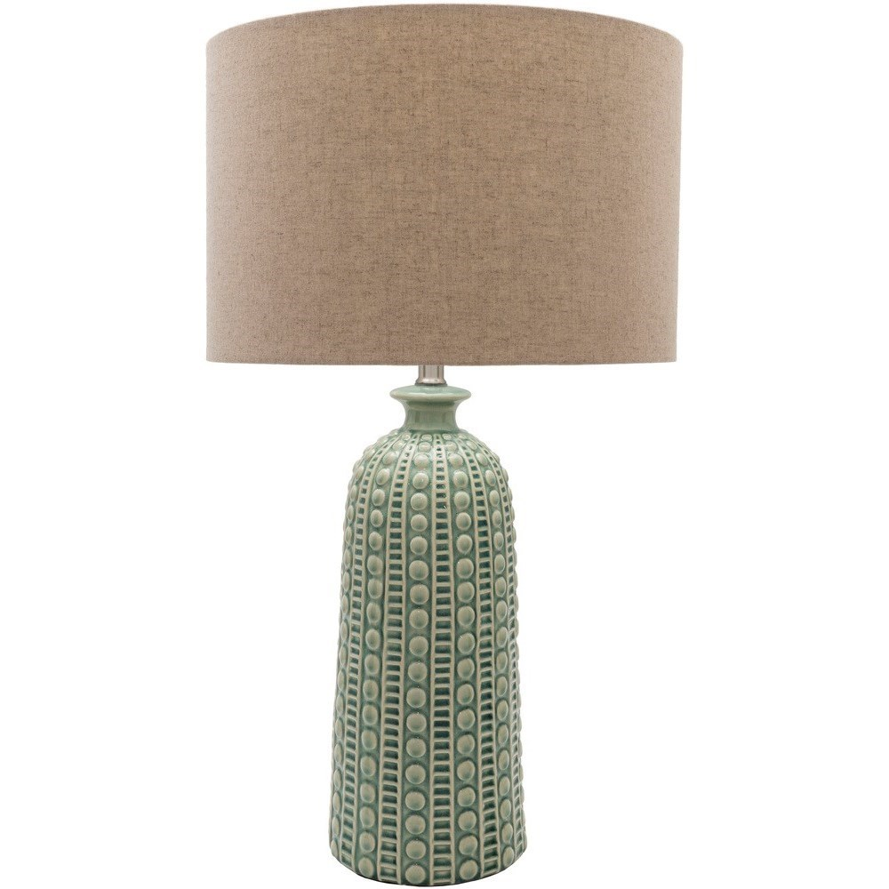 Coastal Lamps Newell Glazed Coastal Table Lamp By Surya At Royal Furniture