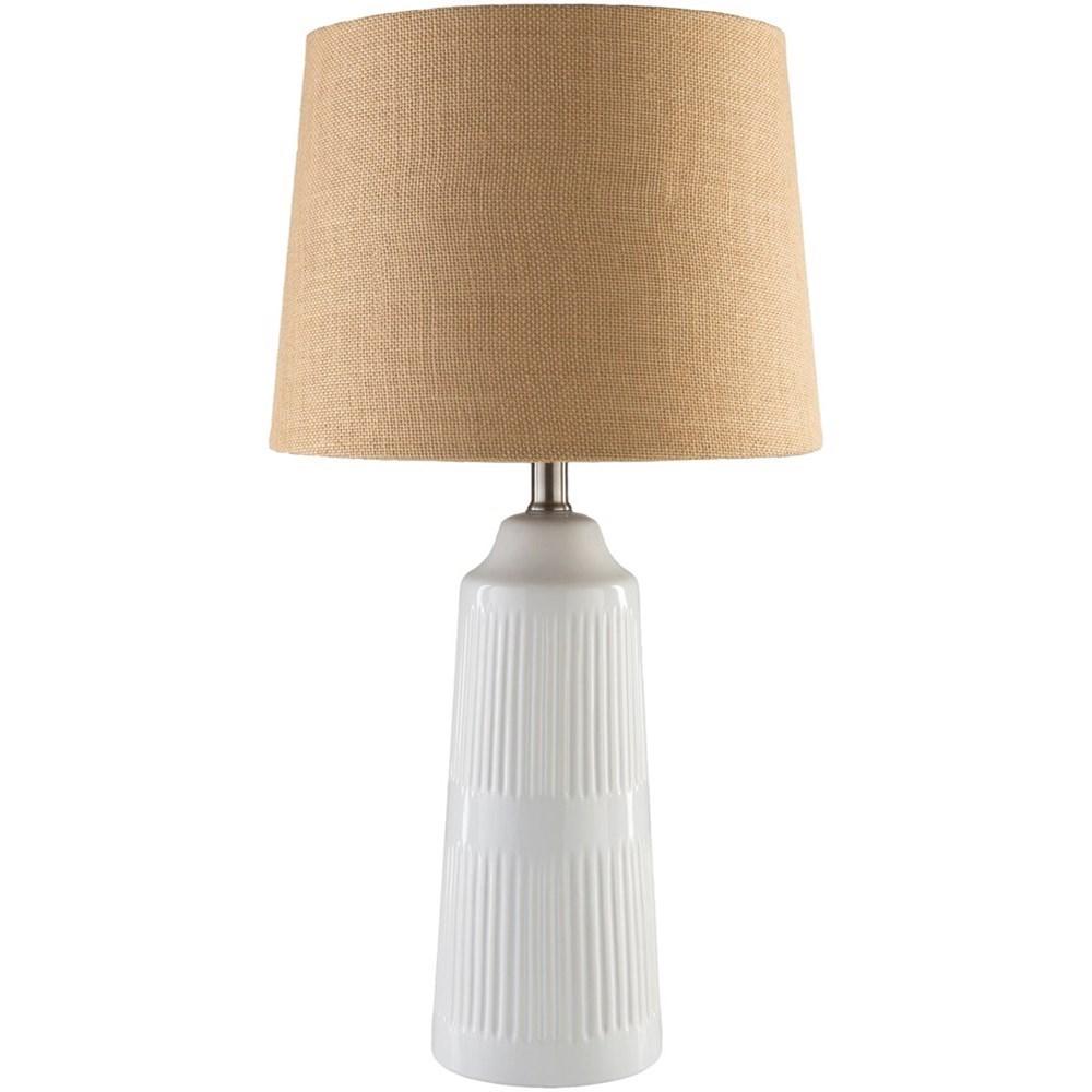 Coastal Lamps Surya Tellico Tll346 Tbl White Coastal Table Lamp Miller Home