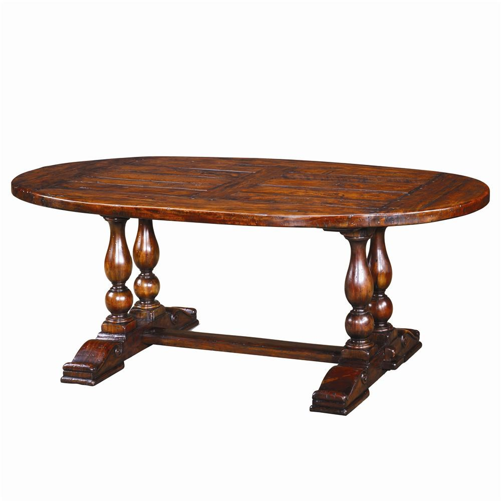 Dining Table Designs Theodore Alexander Tables Cb54004 Oval Antiqued Wood Dining Table