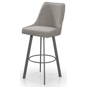 Contemporary Seating Trica Contemporary Seating Olivia Swivel Barstool With Metal Base