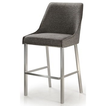 Contemporary Seating Trica Contemporary Seating Sara Barstool With Metal Base