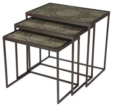 Glass Nesting Tables Accent Furniture Metal And Glass Nesting Tables By Uma Enterprises Inc At Howell Furniture