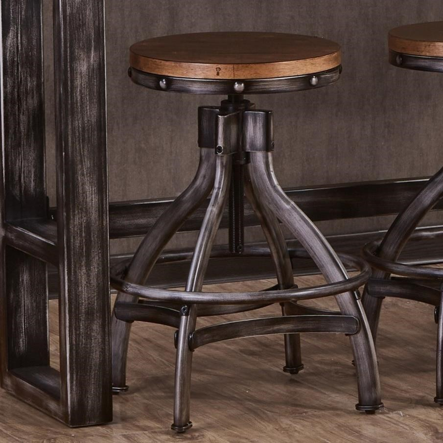Table And Bar Stools Chandler Industrial Bar Stool With Adjustable Height By Simmons Upholstery At Royal Furniture