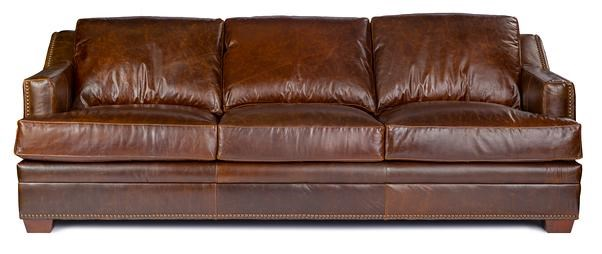 Focus On Furniture Sofa Bed 9355 Track Arm Sofa W Nailhead Trim By Usa Premium Leather At Wilson S Furniture