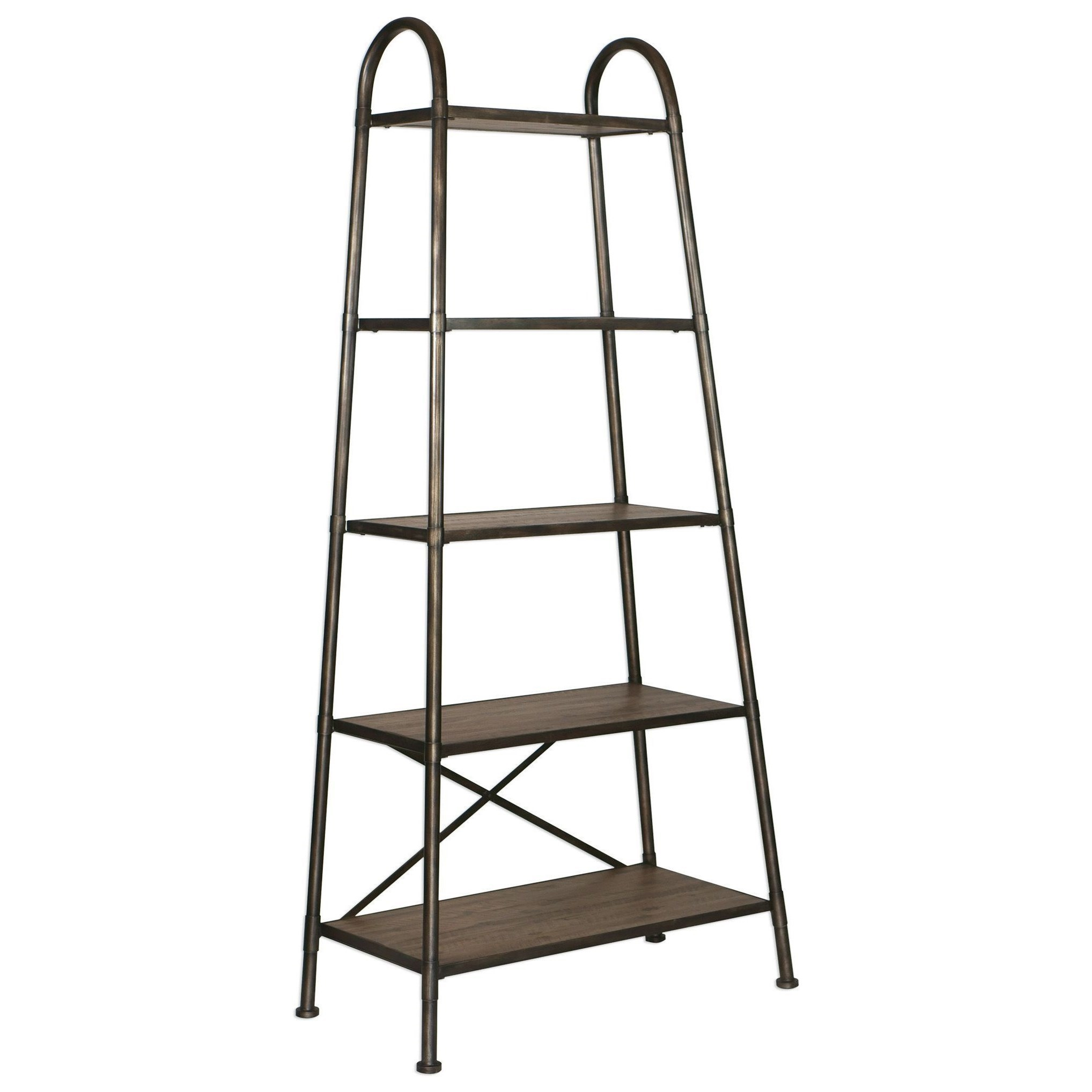 Etagere Metal Accent Furniture Bookcases Zosar Urban Industrial Etagere By Uttermost At Rotmans