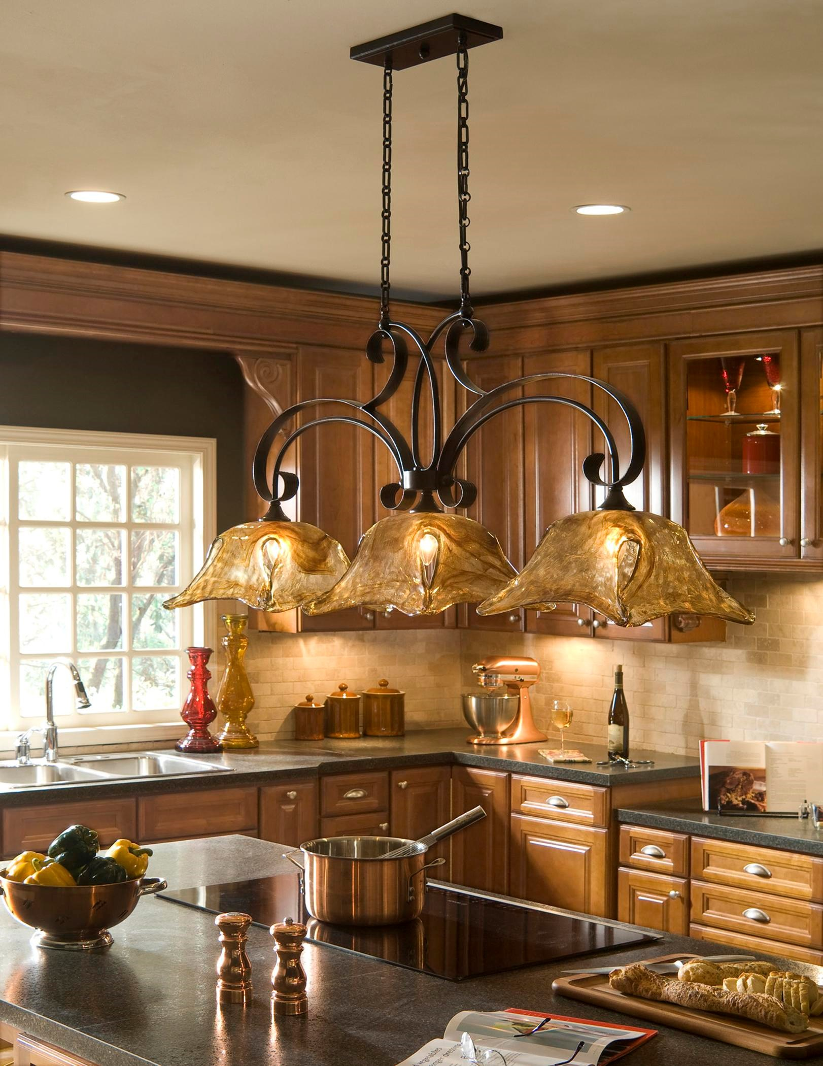 Lighting Fixtures Lighting Fixtures Pendant Lights Vetraio 3 Light Kitchen Island By Uttermost At Hudson S Furniture
