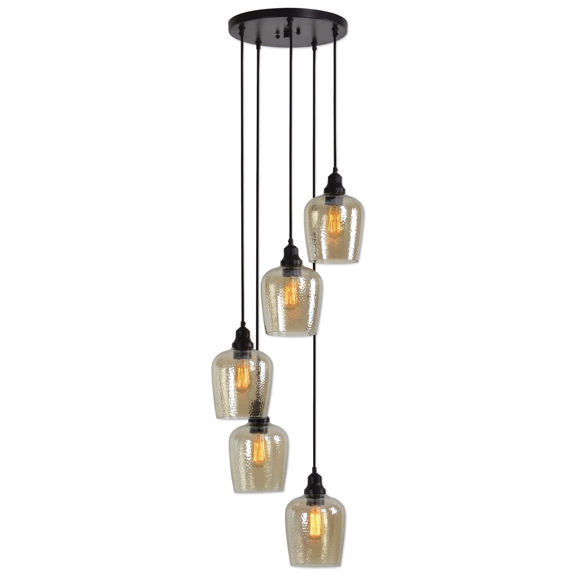 Lighting Fixtures Lighting Fixtures Pendant Lights Aarush 5 Light Glass Cluster Pendant By Uttermost At Hudson S Furniture