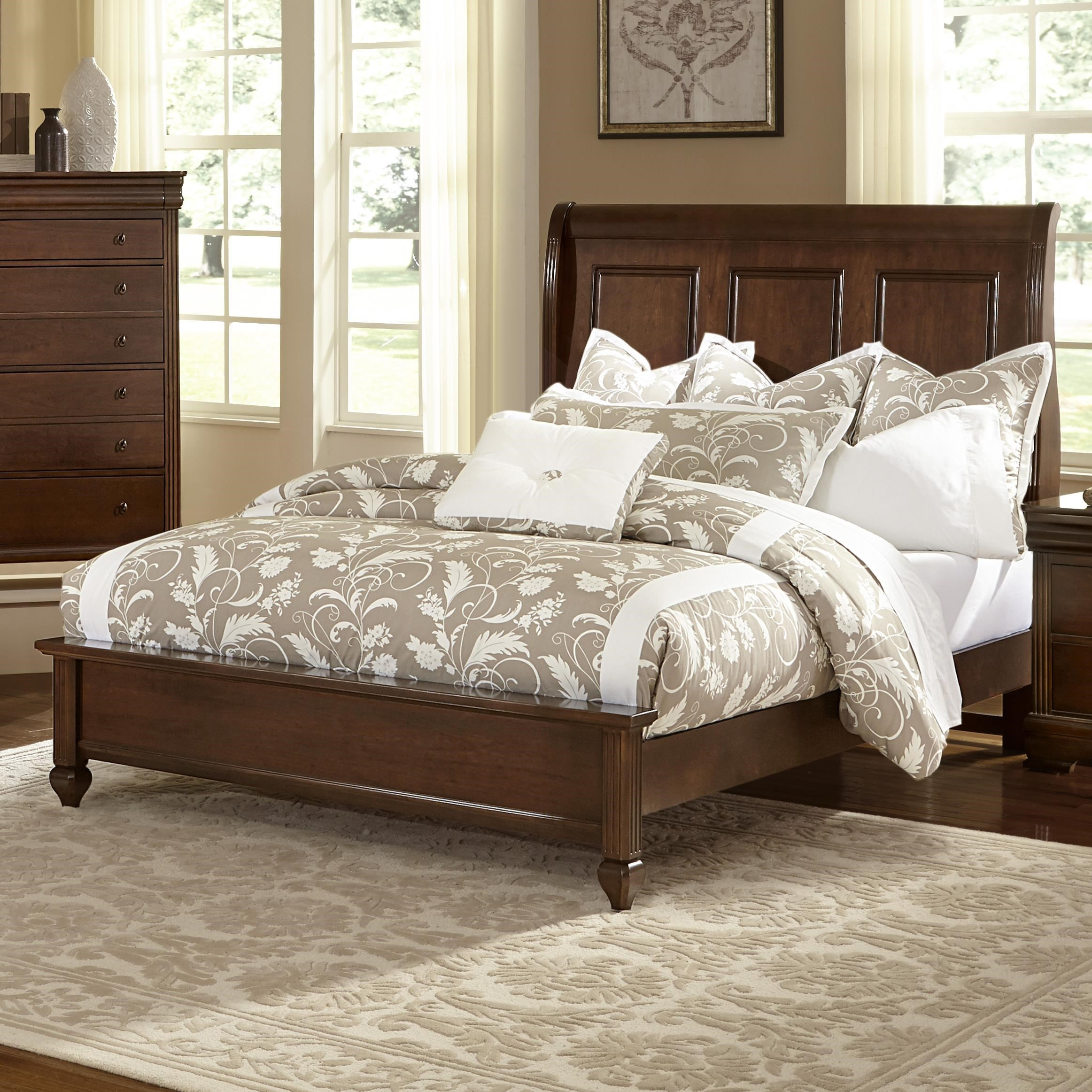 Sleigh Bed Headboard French Market Queen Bed W Sleigh Headboard Low Profile Footboard By Vaughan Bassett At Turk Furniture