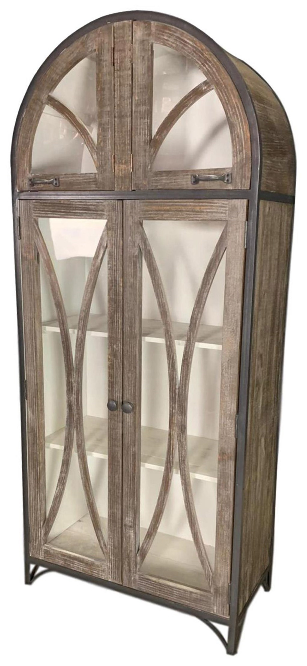Vintage Vitrine Accents Ellie Vitrine With Glass In White Ash By Vintage At Great American Home Store