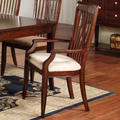 Arm Chairs Topaz Slat Back Arm Chair With Upholstered Seat By Winners Only At Dunk Bright Furniture