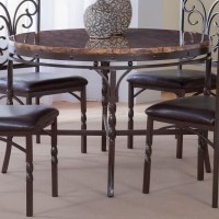 Bernards Tuscan Faux Marble Dinette Table - Wayside ...