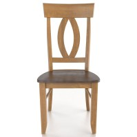 Canadel Custom Dining Customizable Side Chair - Wood Seat ...
