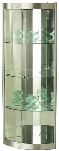 Chintaly Imports 6617 Contemporary Corner Curio w/ Mirror ...