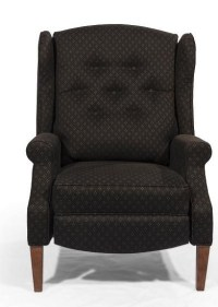 Lancer HomeSpun Push Back Recliner with Tufted Wing Back ...