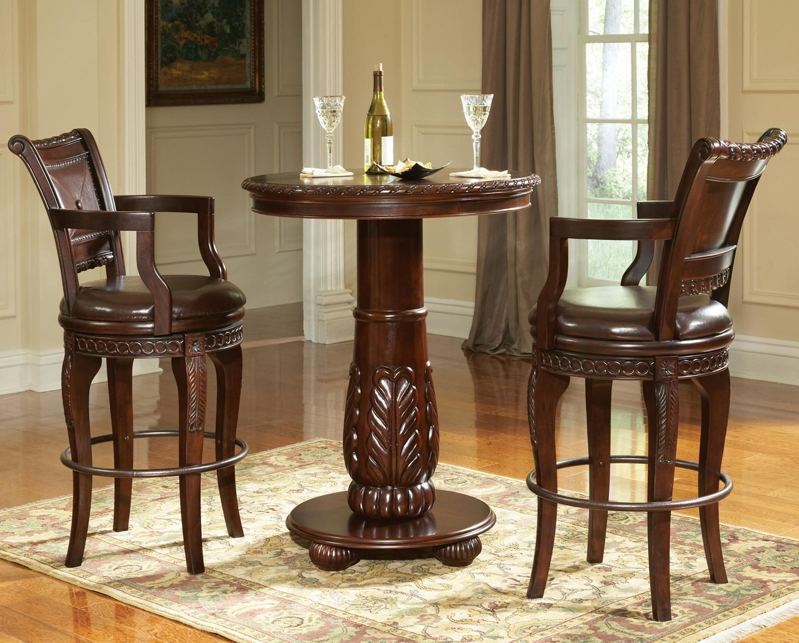 Steve Silver Antoinette 3 Piece Pedestal Pub Table Bar